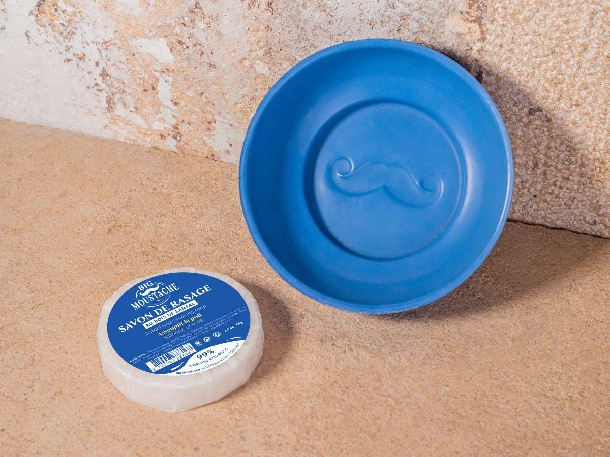 Bol de rasage en béton + savon