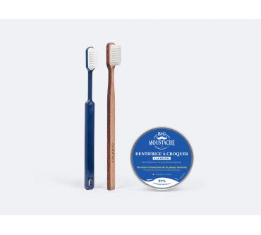 Dentifrice à croquer + Brosse à dents rechargeable