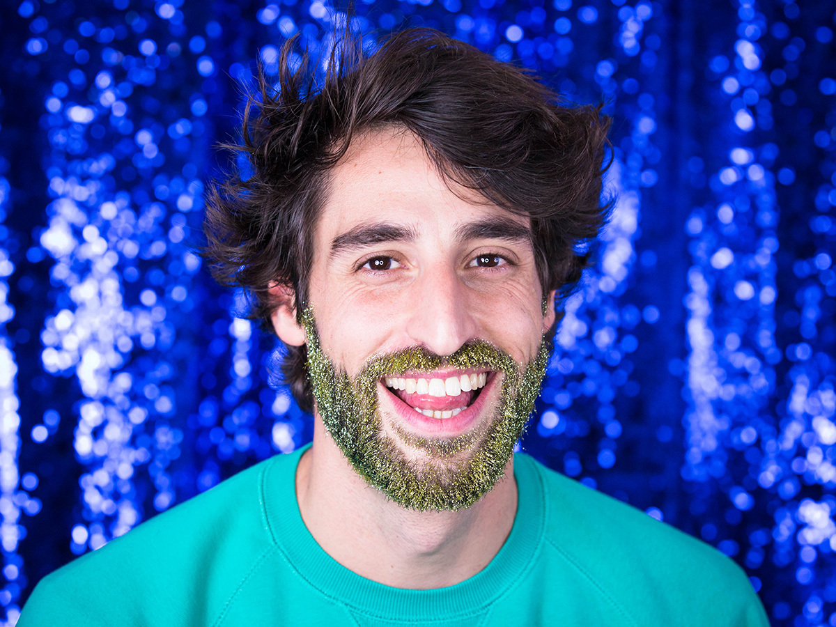Kit barbe à paillettes biodégradables