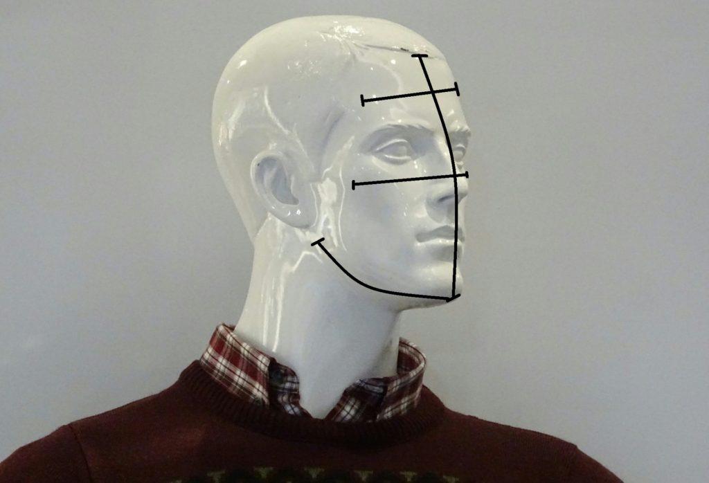 comment mesurer forme visage