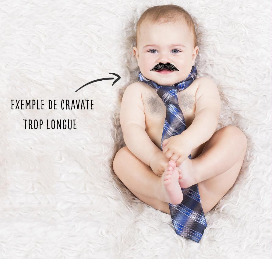 Bonne longueur cravate