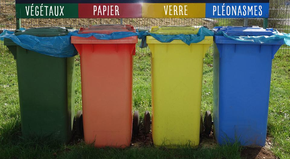Le tri sélectif : à la poubelle
