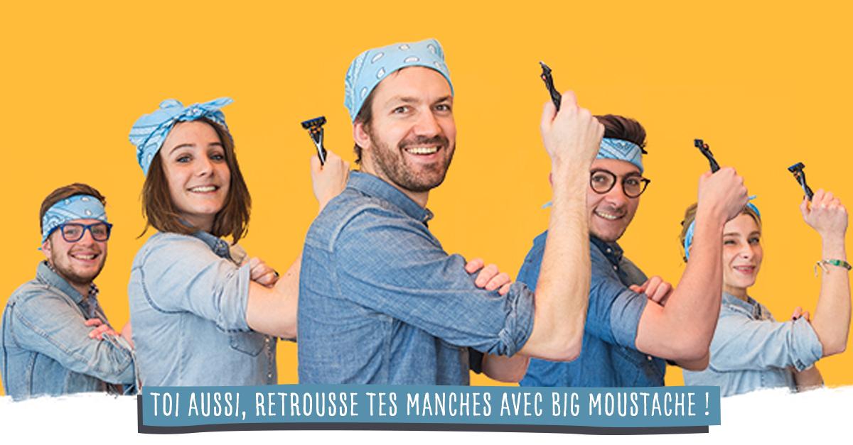 Big Moustache se retrousse les manches pour Emmaüs !