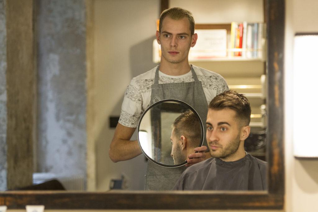Barbier Miroir Salon Homme