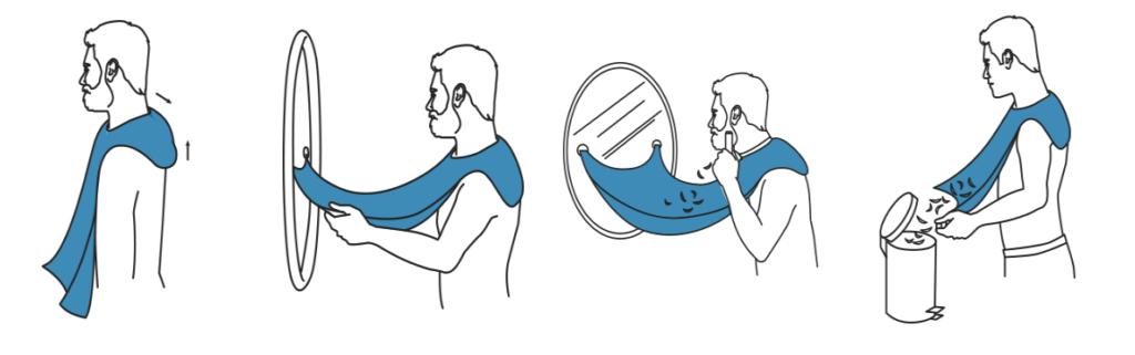 bavoir a barbe comment faire
