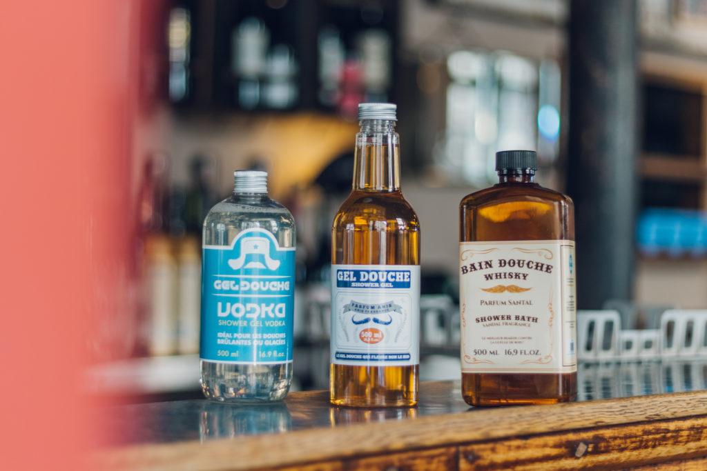 Gel douche alcool : whisky, vodka et pastis - Big Moustache