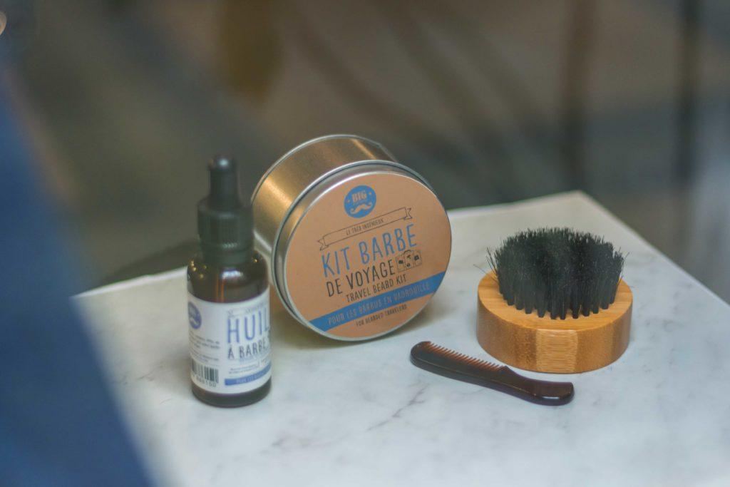 kit brosse peigne et huile pour lisser sa barbe