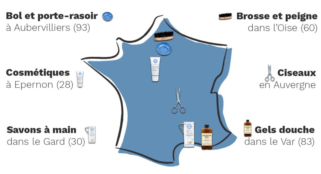 carte de france des produits big moustache