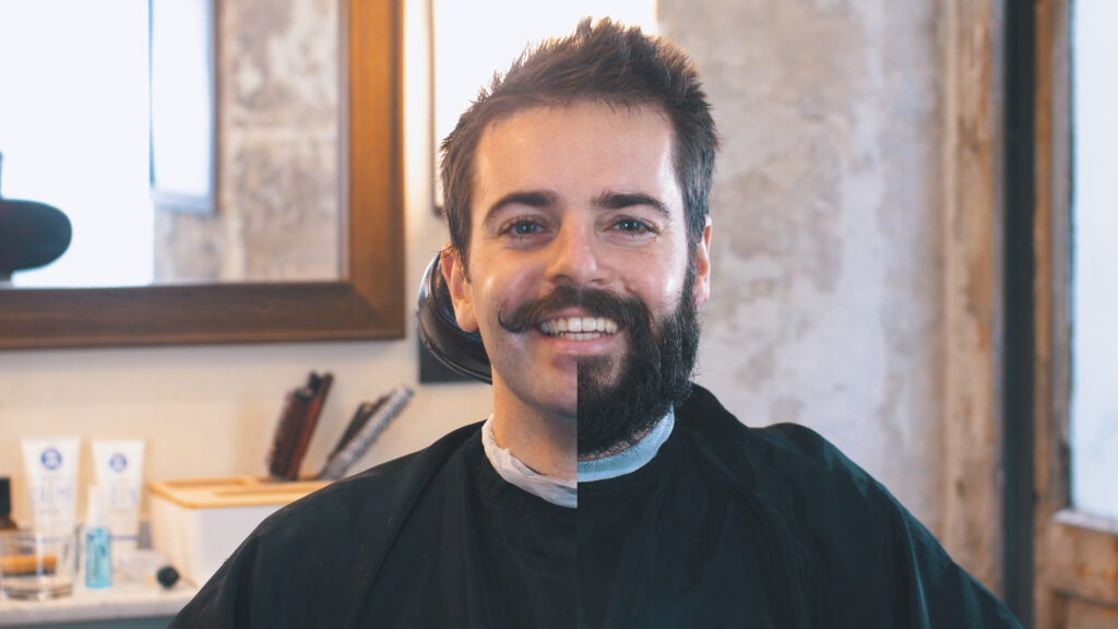 Rasage et moustache : rasage à blanc