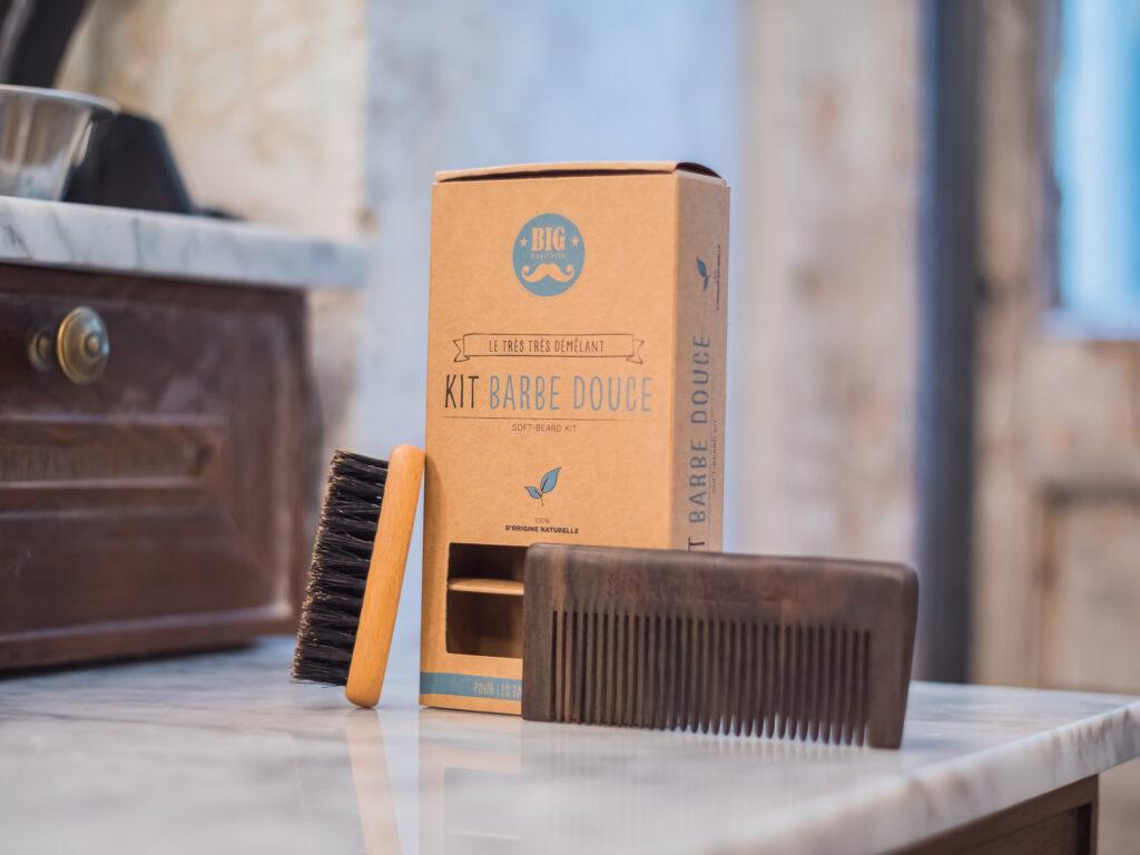 Idée cadeau pour barbu : Kit barbe douce Big Moustache