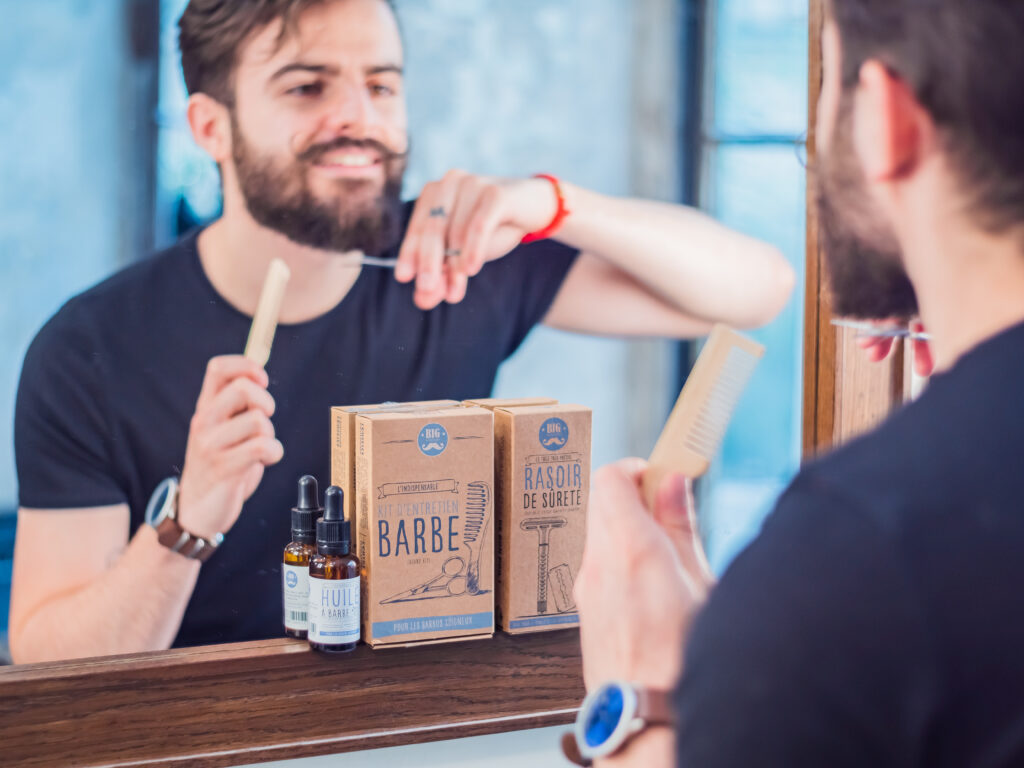 Idée cadeau pour barbu : coffret les essentiels de la barbe