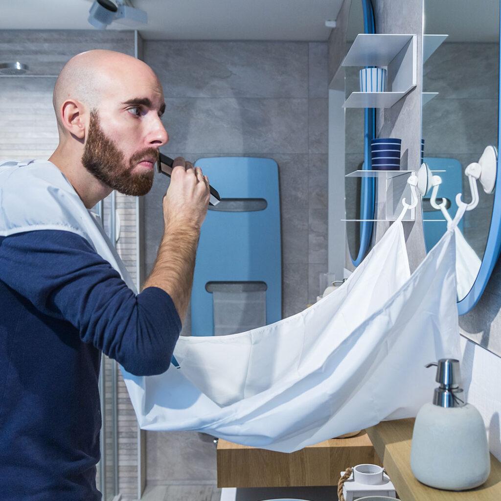 Tondeuse + bavoir à barbe